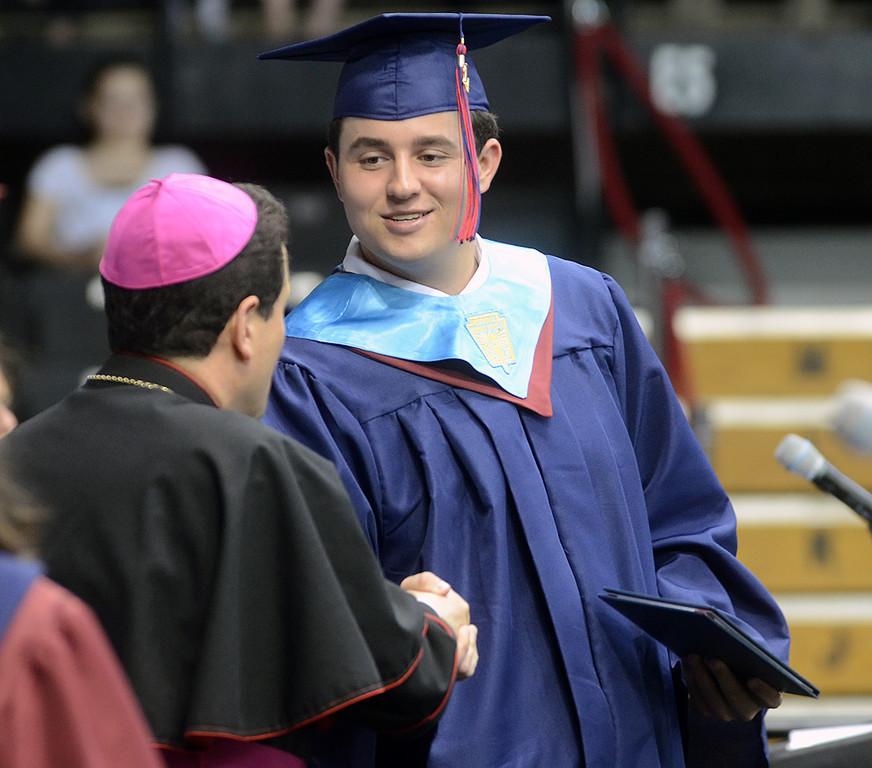 . Cardinal O\'Hara High School held its 2014 commencement exercises on Wednesday, June 4 at Villanova University. (Times staff / JULIA WILKINSON)